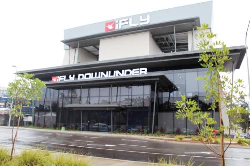 Blonde Tourist blogger at iFLY Downunder Penrith (9) - Building